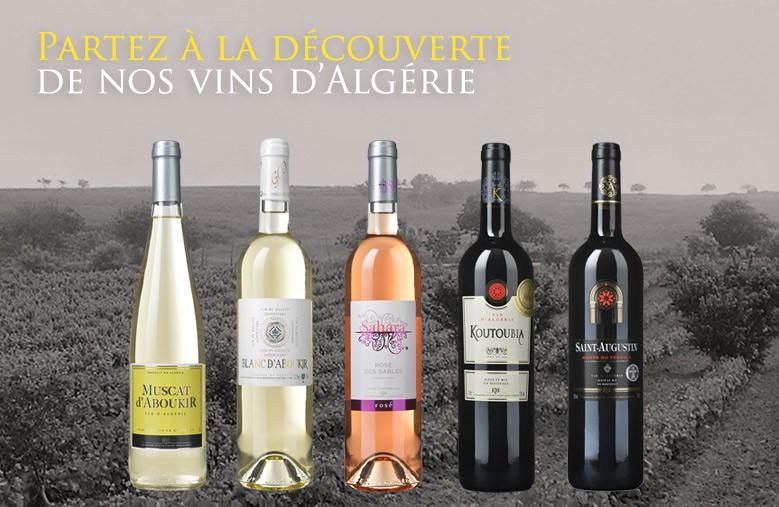 Toute la gamme de vins algériens